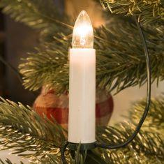 Innen-Baum-Lichterkette, Topbirnen, 10 klare Birnen