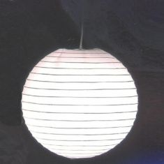 Japankugel in weiß - 60cm Durchmesser inklusive Schnurpendel