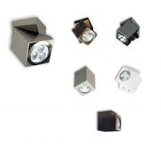 kantiger Strahler in Weiß, Silber, Chrom, Wenge, Kupfer und Nickel-satiniert