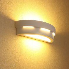Keramikwandleuchte Helios weiß inkl. LED 6W