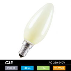 Kerze Leuchtmittel C35 Kerze E14 25 Watt  Lemon soft