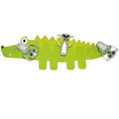 Kinder-Deckenlampe Krokodil für coole Kids, 3 Strahler