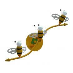 Kinderdeckenlampe mit 3D-Bienchen, 3-flammig