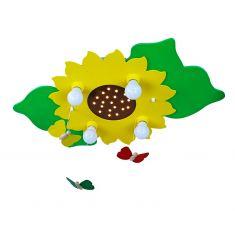 Kinder-Deckenleuchte mit Sonnenblume und Schmetterlings-Mobile