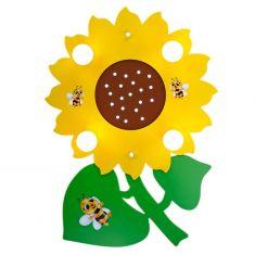 Kinder-Deckenleuchte mit Sonnenblume und kleinen Bienen