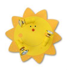 Kinderdeckenleuchte Sonne - mit 3 Strahlern
