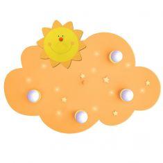Kinderdeckenleuchte Wolke mit 10 LED-Schlummerlichtern