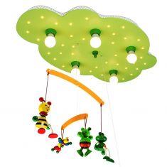 Kinder-Deckenleuchte in Wolkenform mit süßem Mobile