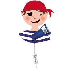 Kinder-Wandleuchte Pirat, 1 beweglicher Strahler