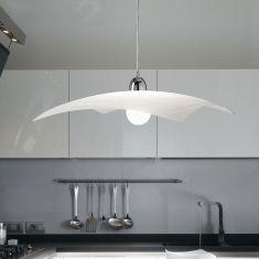 Klassische Pendelleuchte für die Küche - Glas eckig