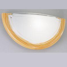 Klassische Wandleuchte Holzrahmen und Glas