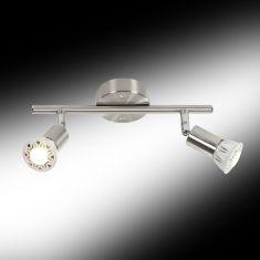 Klassischer Deckenstrahler - 2-flammig - Flexibel ausrichtbar - 2 x GU10 LED 3 Watt