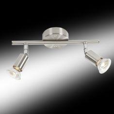 Klassischer Deckenstrahler - 2-flammig - 2 x GU10 35 Watt 2x 35 Watt, Halogenlampen