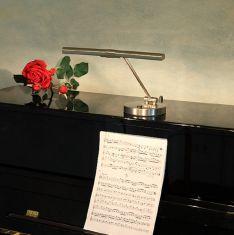 Klavierleuchte, verschiedene Oberflächen