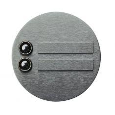 Klingelplatte Edelstahl, mit / ohne Lasergravur - Ø 13cm