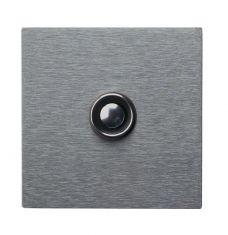 Klingelplatte  8cm x 8cm  Edelstahl - mit oder ohne Lasergravur wählbar