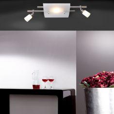 Knapstein LED-Deckenleuchte in 2 Ausführungen, Innenlicht+2x Strahler