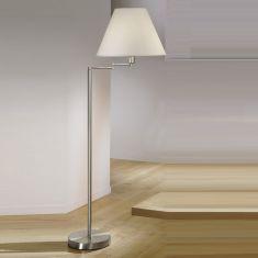 Kolarz Stehlampe Hilton mit Stoffschirm 45 cm, schwenkbar