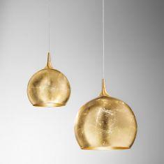 Kolarz® Pendelleuchte Moon Ø 30oder 40cm cm  Leaf Gold mit  Blattgold
