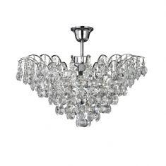Kristall Deckenleuchte Limoges aus Chrom 3-flammig