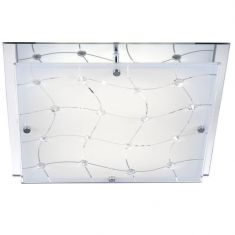 Kristall Deckenleuchte mit festverbauten LEDs
