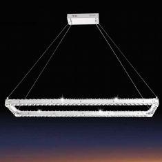 Kristall LED-Pendelleuchte Varazzo 80cm