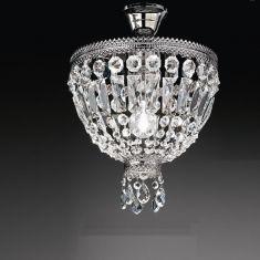 Kristall-Deckenleuchte in Nickel-glänzend Ø 30cm