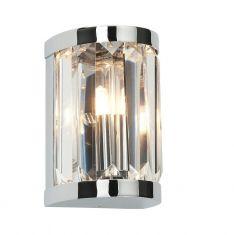 Kristallwandleuchte Crystal in Chrom, Höhe 13cm