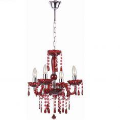 Krone in Rot aus Acrylglas, Durchmesser 42cm