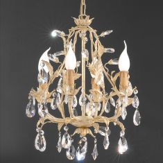 Kronleuchter  Florentiner-Stil Wählbar mit Bleikristall- oder Glasbehang