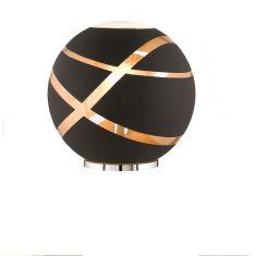 Kugel Tischleuchte Faro aus schwarzem Glas, Ø 30cm