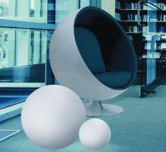 Kugelleuchte aus Polyethylen - bruch-beständig, Ø 75cm - Innenbereich
