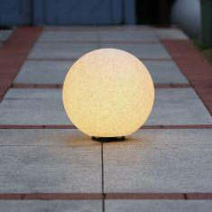Kugelleuchte in Granit-Optik, mit Ø 40cm + 6 W LED