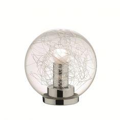 Kugeltischleuchte mit klarem Glas in 20cm Durchmesser 21,00 cm, 20,00 cm