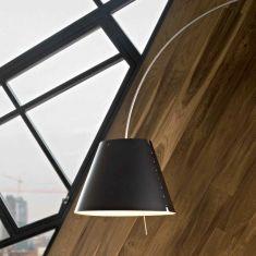 Kunststoffschirm zur Bogenleuchte Lady Costanza - in Schwarz - Ø 50cm schwarz