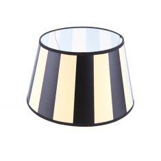Lampenschirm aus Stoff in Creme mit schwarzen Streifen rund Ø 30cm Aufnahme E27