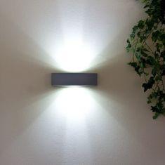 LED Außenwandleuchte in grau matt inklusive LED