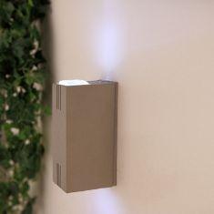 LED Außenwandleuchte, Aluminium Druckguss, LED 2 x 3W, 2 x 220 Lumen, 5.000 Kelvin
