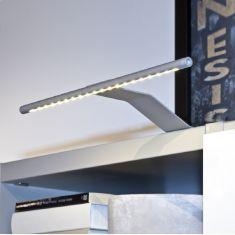 LED Aufbauleuchte mit 20 LEDs nickel matt