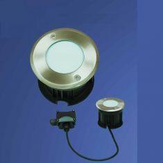 LED Bodeneinbaustrahler, 24er LED weiß, Glas gefrostet  - 2,4 Watt.