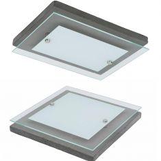 LED Deckenleuchte Angus aus Beton in vier Größen