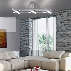 LED Deckenleuchte aus Chrom 3-flammig