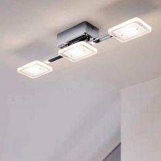 LED Deckenleuchte Cartama, Gläser eckig