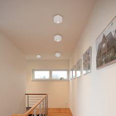 LED Deckenleuchte Quad 1 weiß inklusive 7 Watt  Leuchtmittel