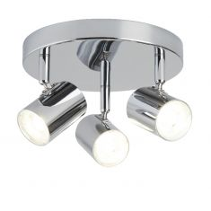 LED Deckenrondel  Rollo - 3-flammig