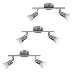 LED Deckenstrahler 2-flammig als Starterset für die 1. Wohnung 3 x Deckenspot