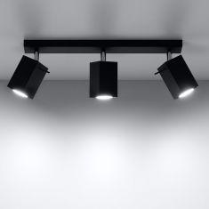 LED Deckenstrahler Merida 3 schwarz, schwenkbar