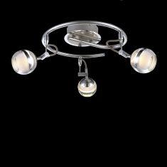 LED Deckenstrahler in nickel-matt 5W LED 350lm 3000K 3flammig - inklusive  LED Taschenlampe