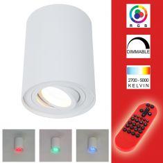 LED Deckenstrahler in Weiß, schwenkbar inklusive Fernbedienung