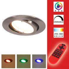 LED Einbauleuchte Lola Down mit Fernbedienung RGB, CCT Ø 8,5 rund, 8,50 cm, 6,80 cm